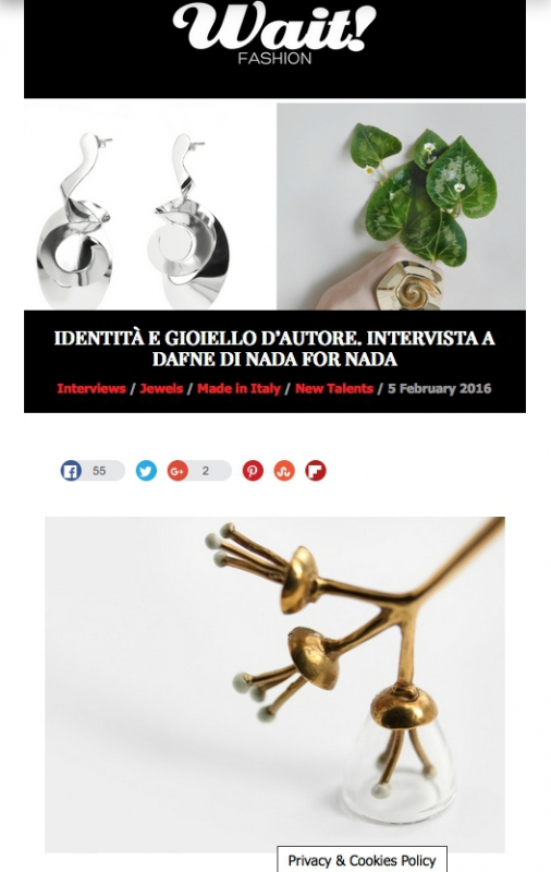 IDENTITÀ E GIOIELLO D'AUTORE. INTERVISTA /Interviews / Jewels / Made in Italy / New Talents / 5 February 2016
